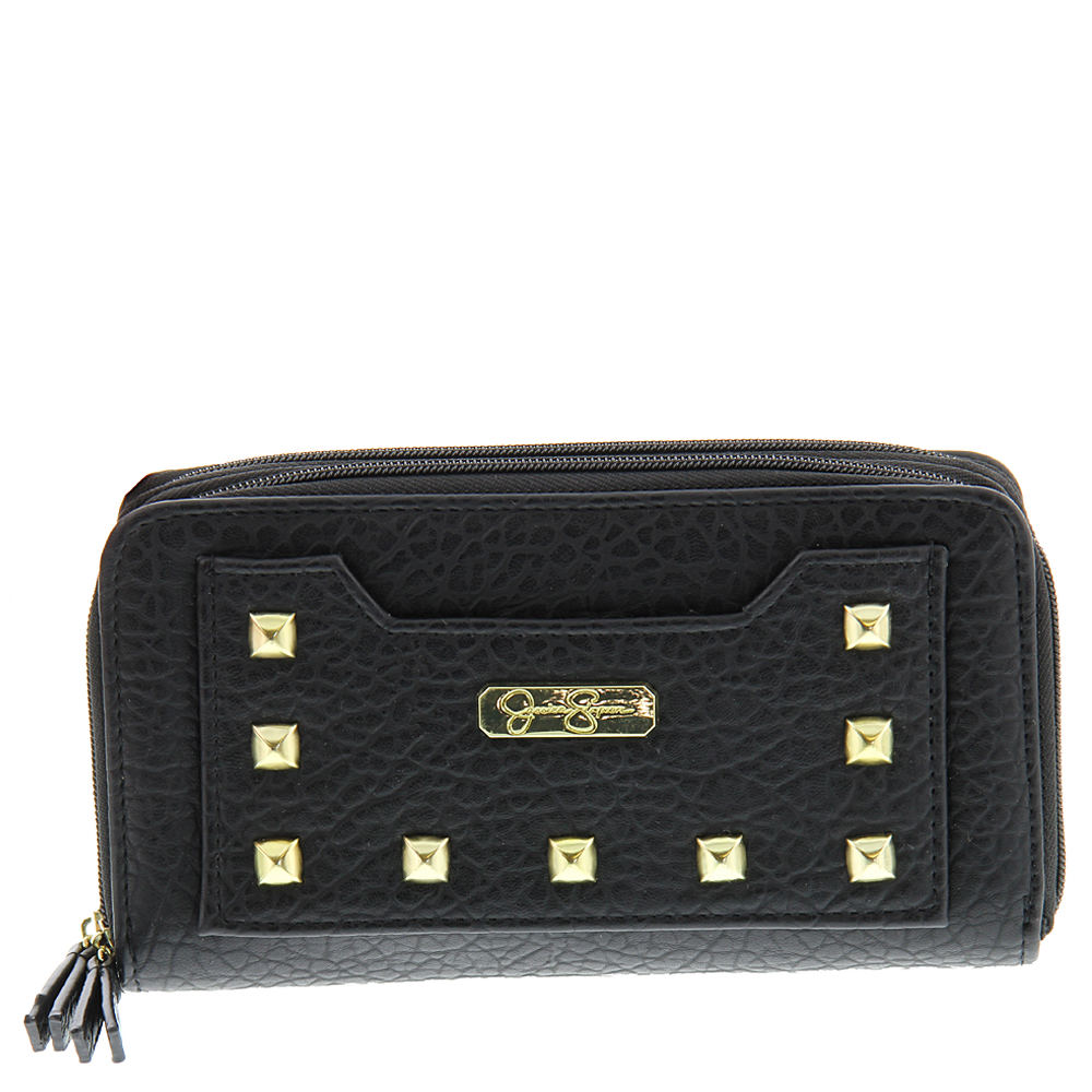Jessica Simpson Maisie Double Z/A Wallet Black Misc Accessories No Size 552237BLK
