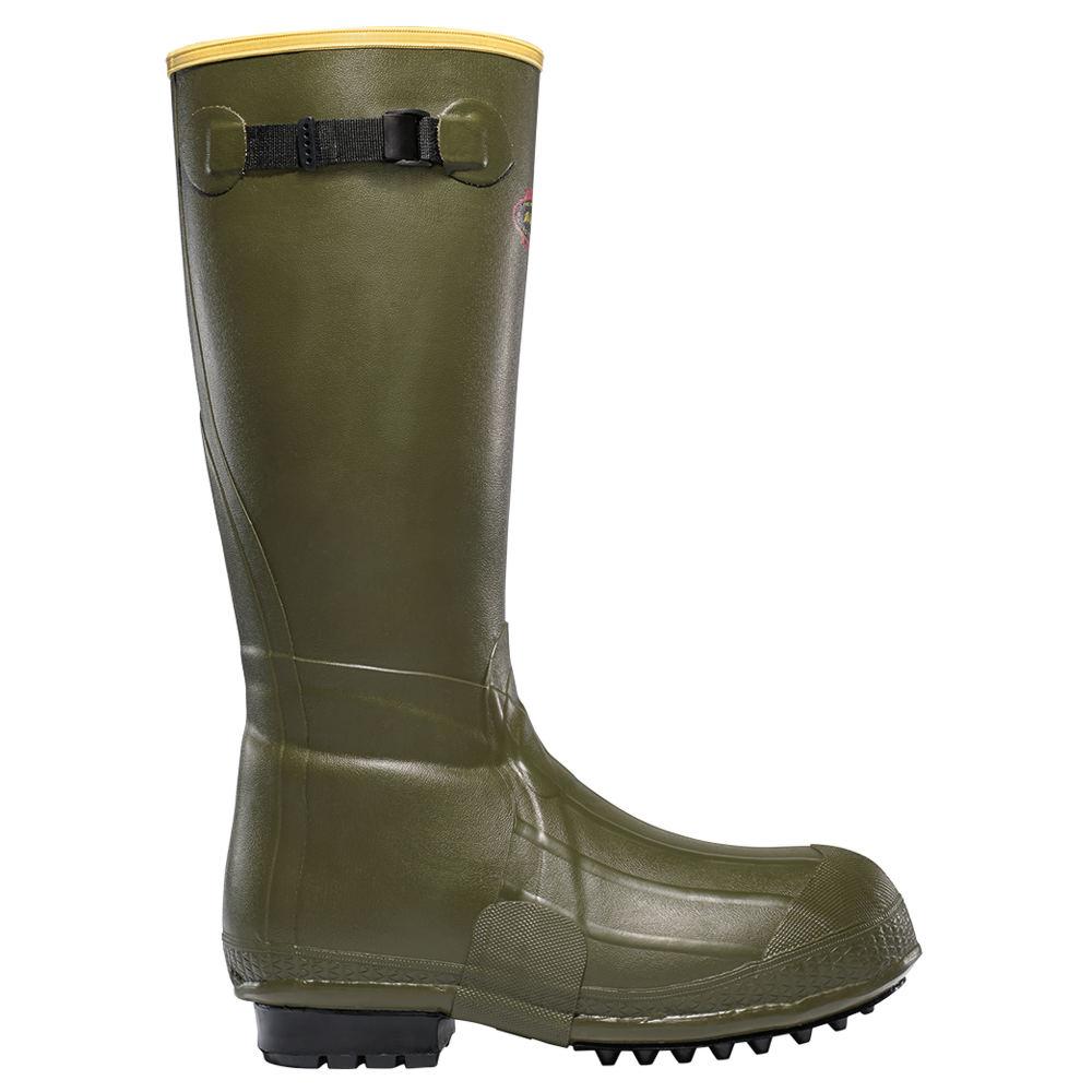 """LaCrosse Burly Air Grip 18"""" OD Men's Green Boot 15 M"""