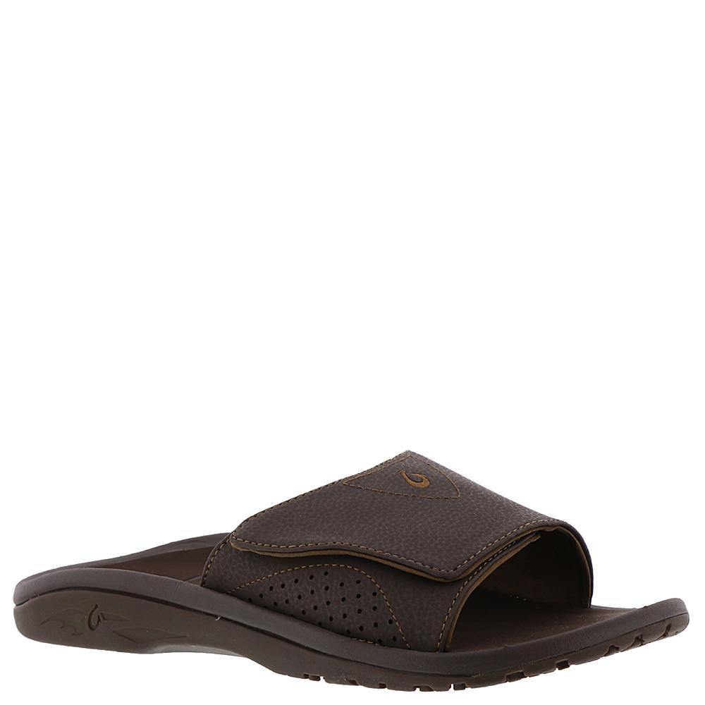 OluKai Nalu Slide Men's Brown Sandal 11 M