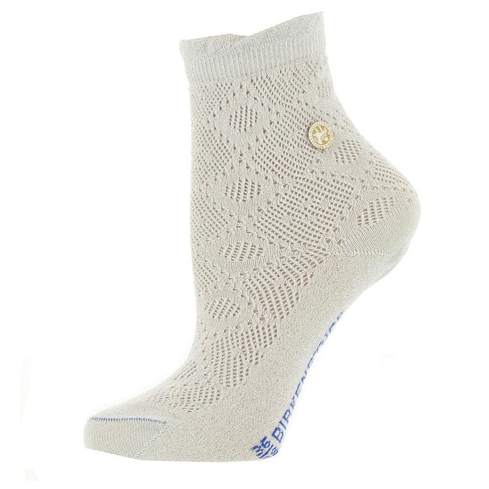Birkenstock Women's Cotton Bling Ajour Crew Socks White Socks M 553682WHTMED