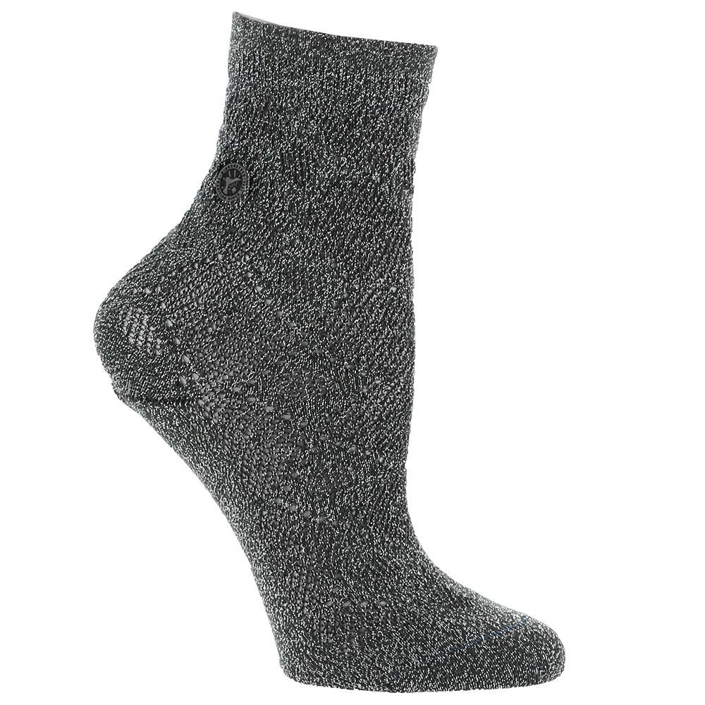 Birkenstock Women's Cotton Bling Ajour Crew Socks Grey Socks S 553681ANCSML