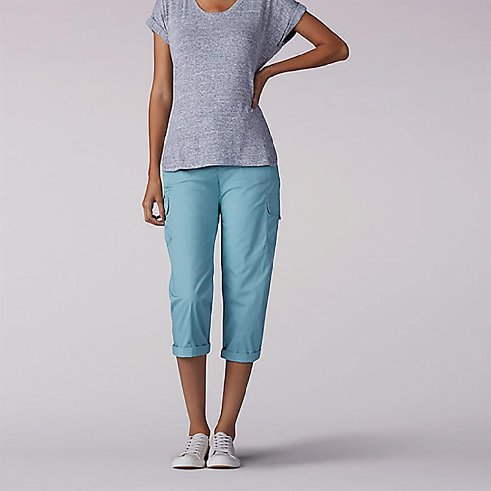 Lee Women's Nikki Capri Green Blue Pants 10-Regular 713634AQU100RG