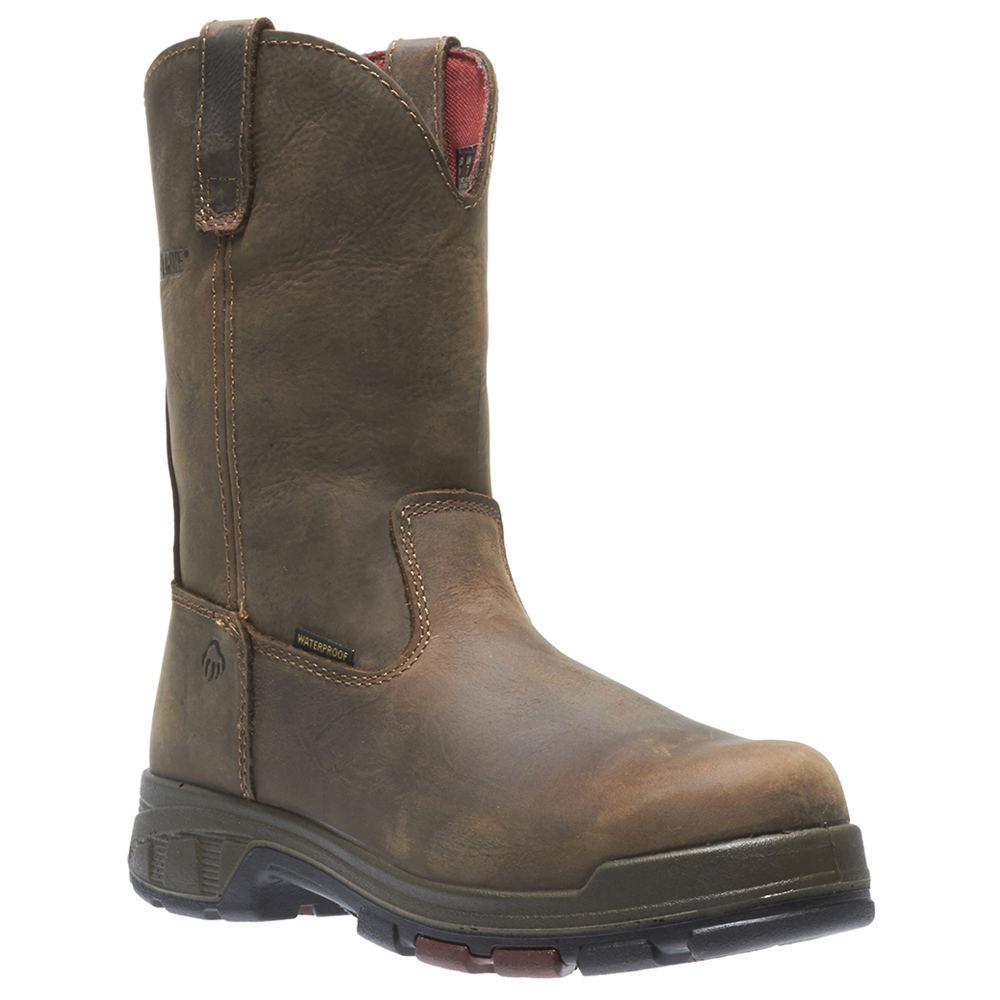 Wolverine Cabor Wellington Soft Toe Men's Brown Boot 9 W