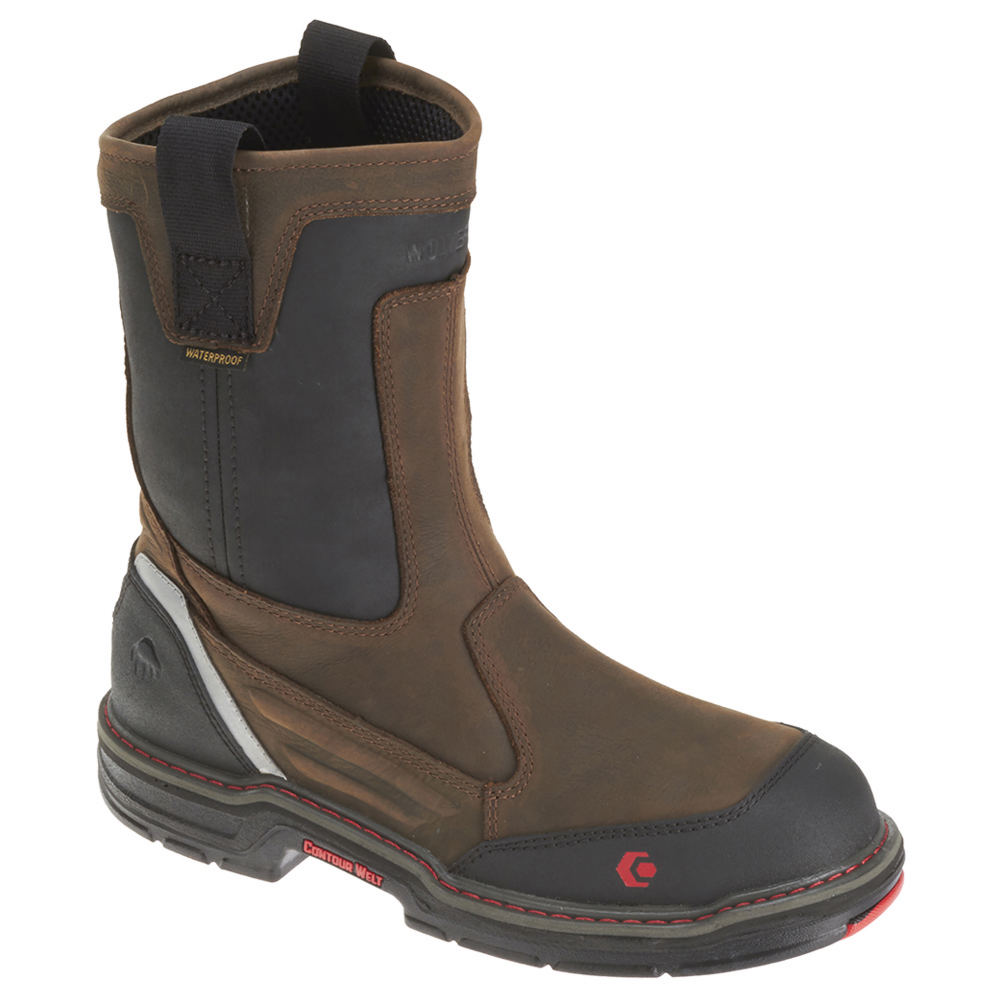 "Wolverine Overman Wellington Composite Toe 10"" Men's Brow..."