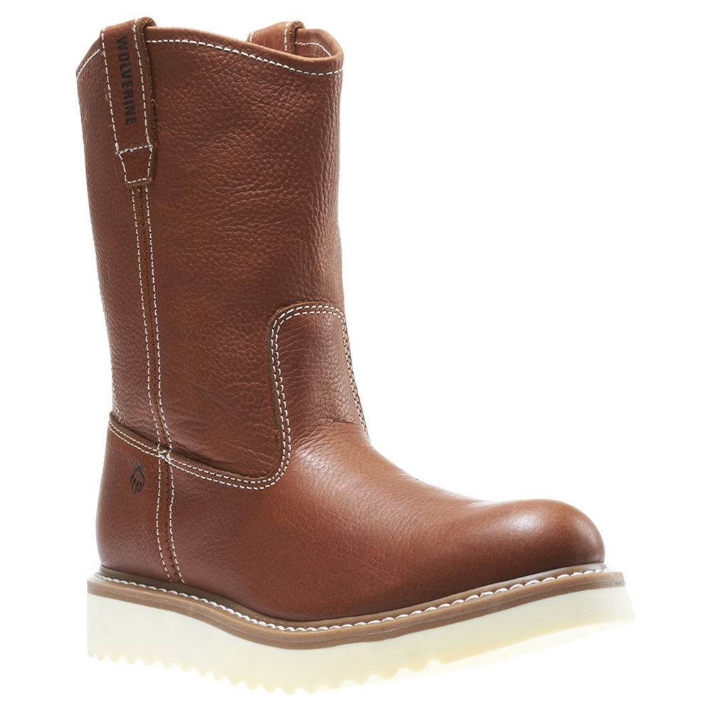 Wolverine Work Wedge Wellington Soft Toe Men's Tan Boot 8 M