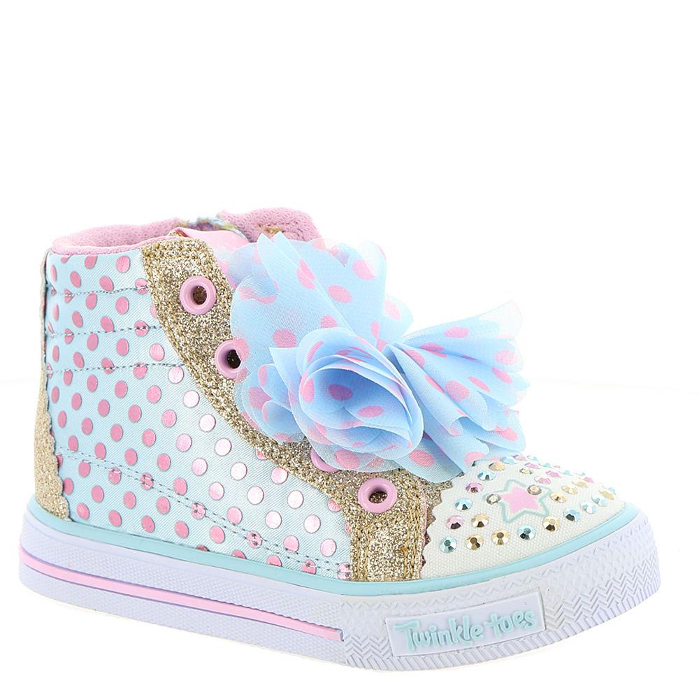 Skechers Twinkle Toes: Shuffles-Flower Fun Girls' Infant-...