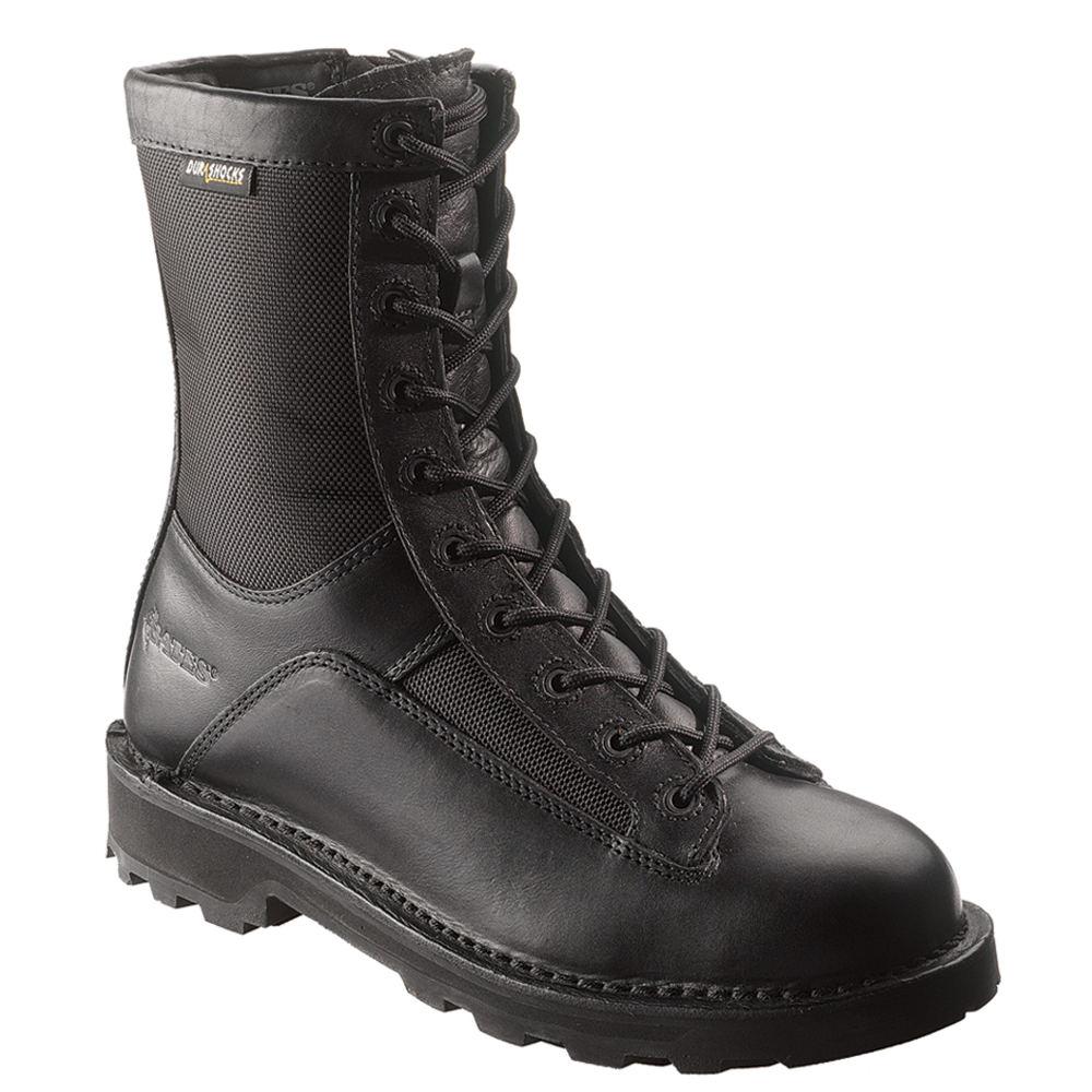 "Bates 8"" DURASHOCKS Side Zip Men's Black Boot 8.5 M"