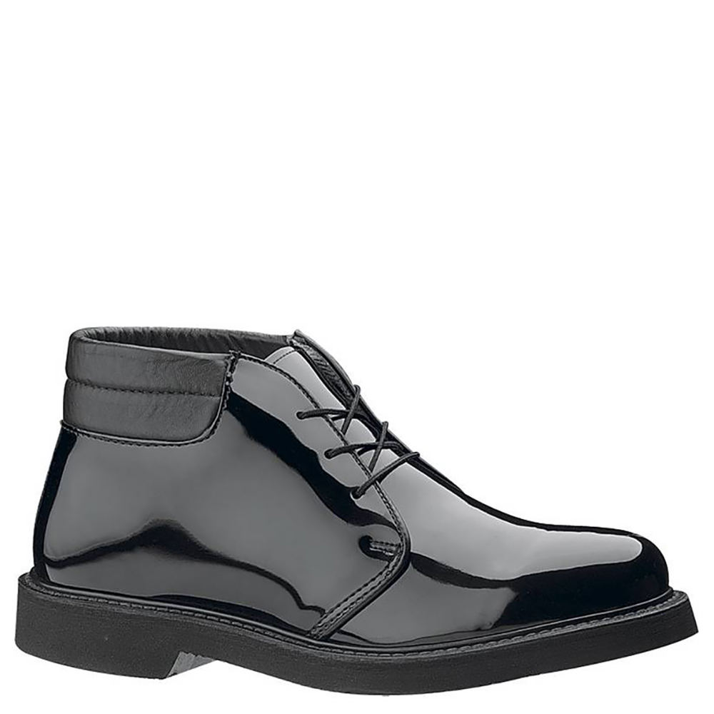 Bates LITESHigh Gloss Padded Collar Men's Black Oxford 9.5 E
