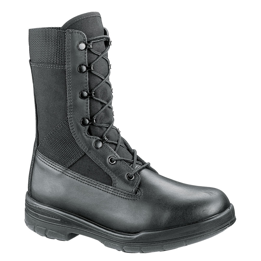 "Bates 8"" Tropical Seals DuraShocks Men's Black Boot 14 EW"