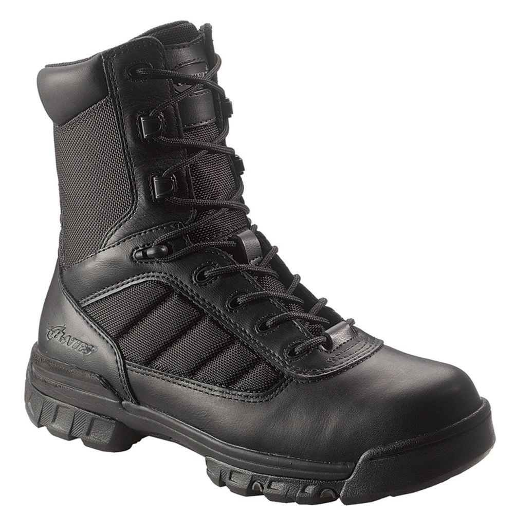 """Bates 8"""" Tactical Sport Side Zip Men's Black Boot 10.5 EW"""