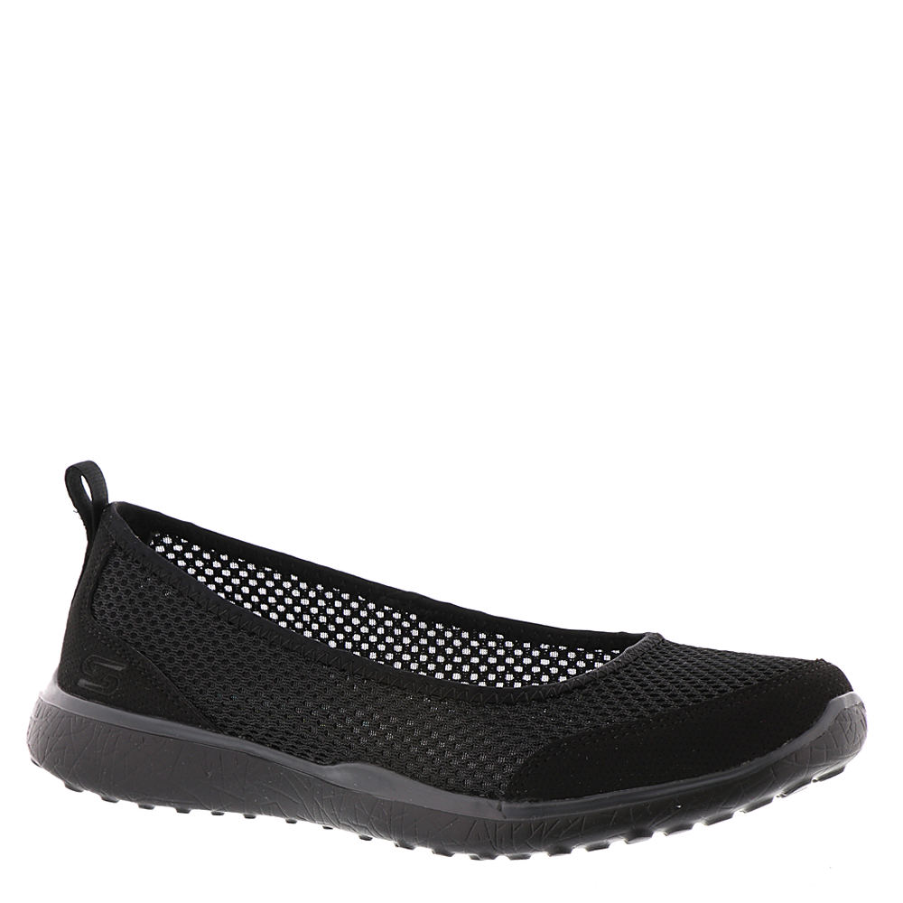 Skechers Active Microburst-Sudden Look Women's Black Slip On 10 M 555524BLK100M