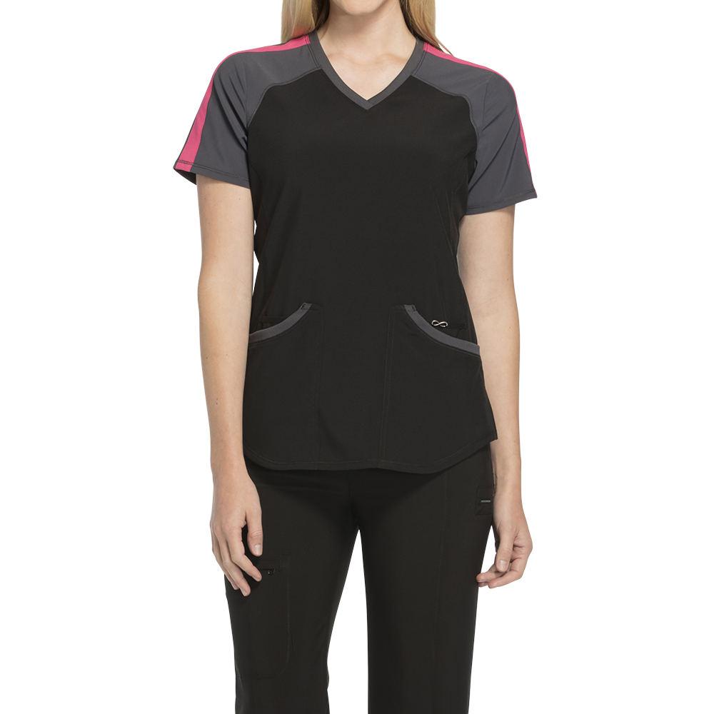 Cherokee Medical Uniforms Infinity-V-Neck Top Black Shirts L 713874BLKL