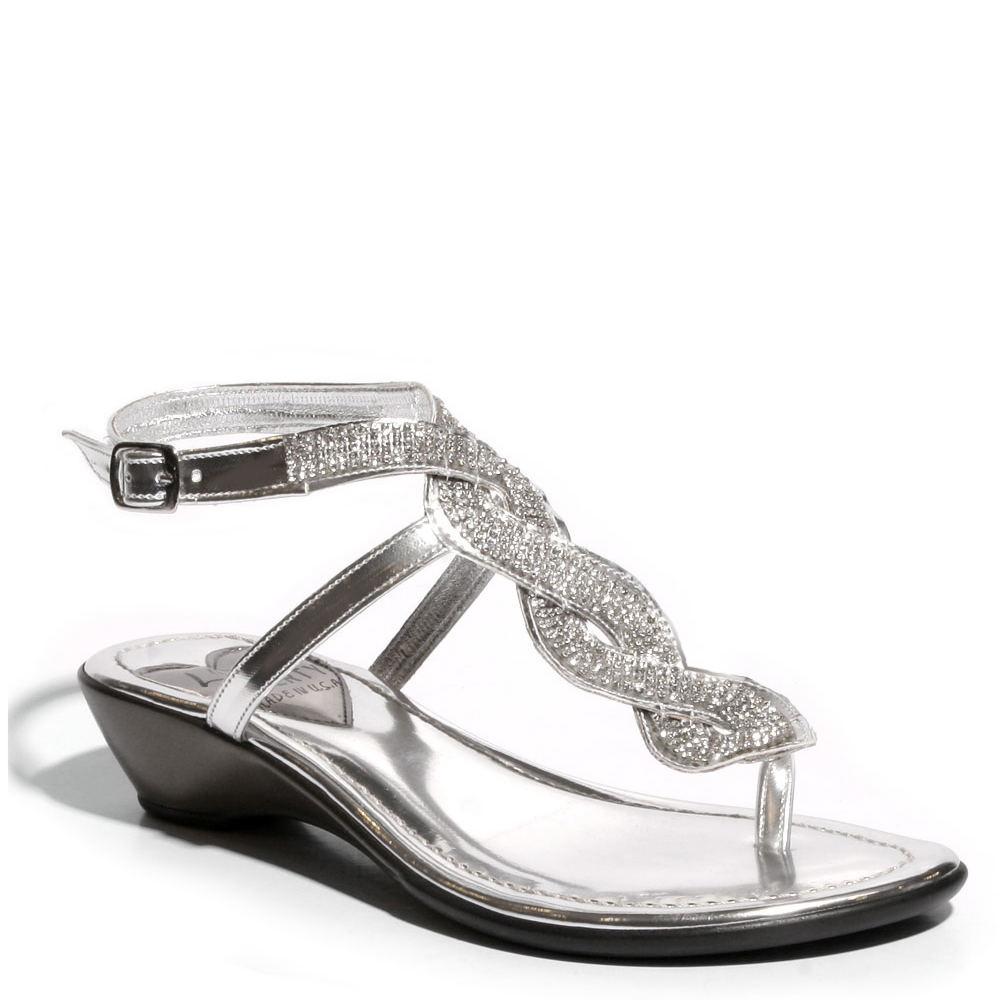 Love and Liberty Sapphire Women's Silver Sandal 7 M