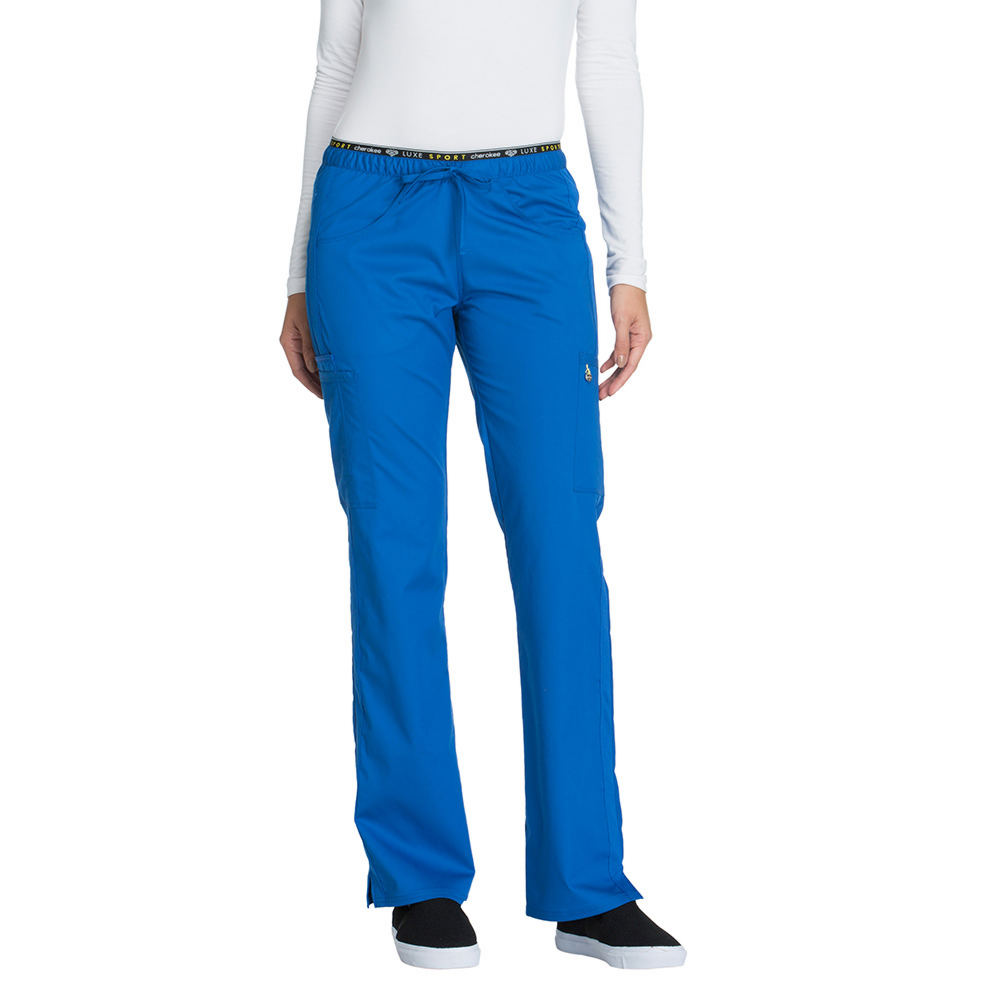 Cherokee Medical Uniforms LUXE SPORT Mid Rise Draw Pant Blue Pants XL-Regular 714138RYL1XLRG