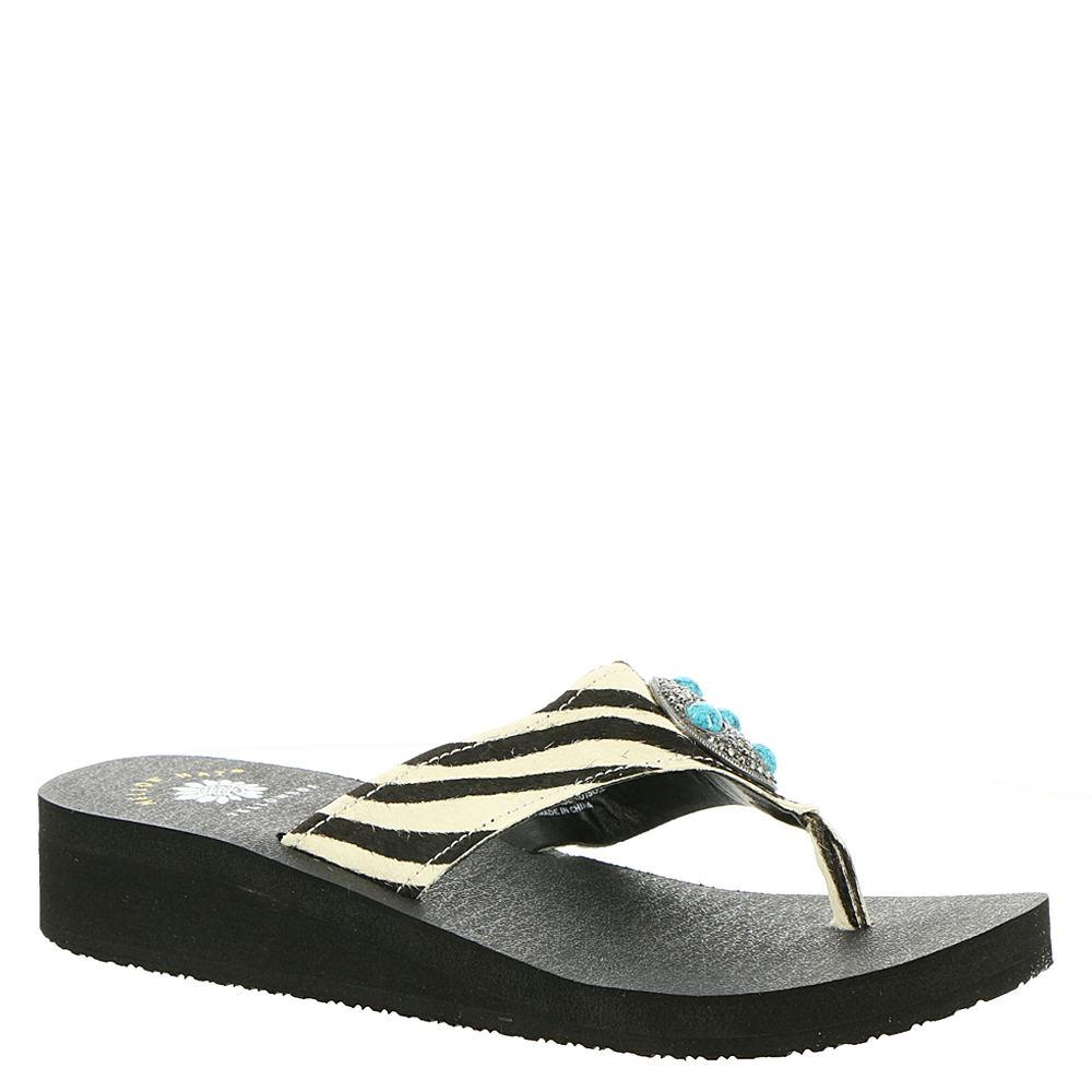 Yellow Box Hailena Women's White Sandal 6 M