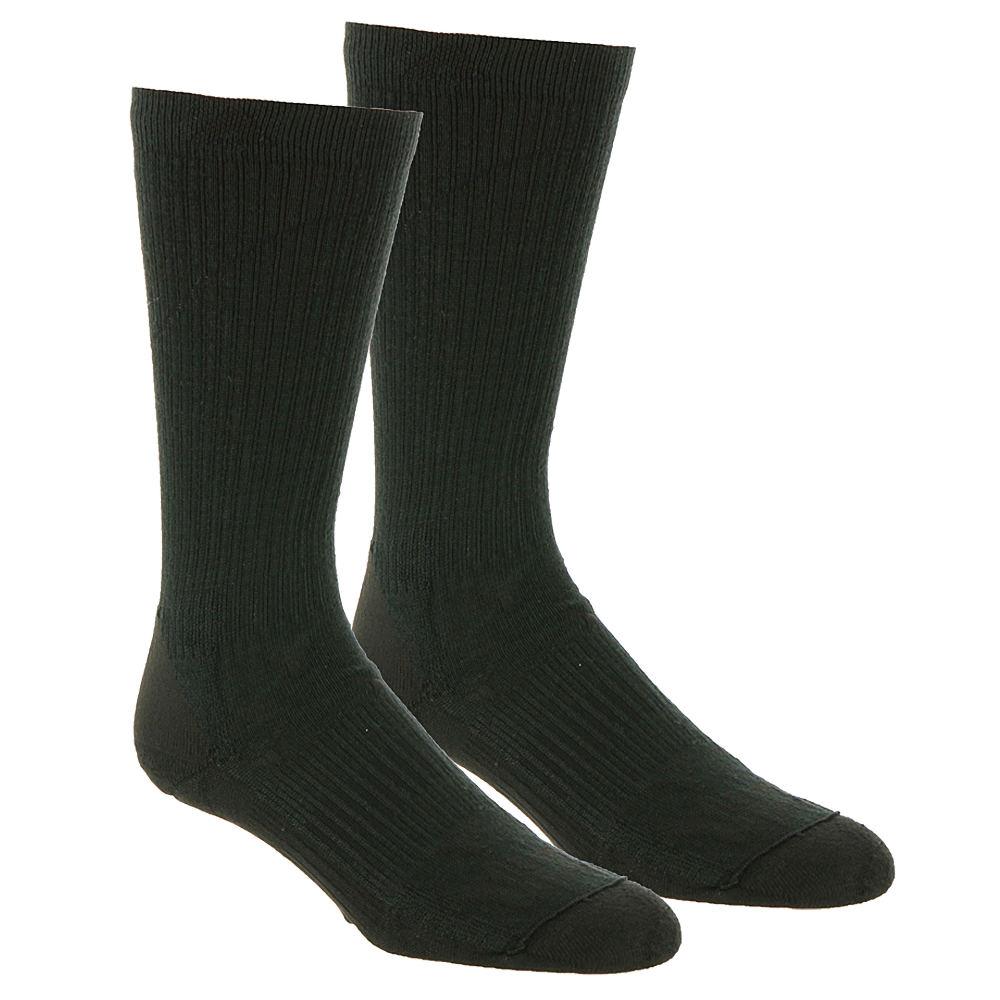 Wigwam Patrol Crew 2-Pack Crew Socks Black Socks M 654184BLKMED
