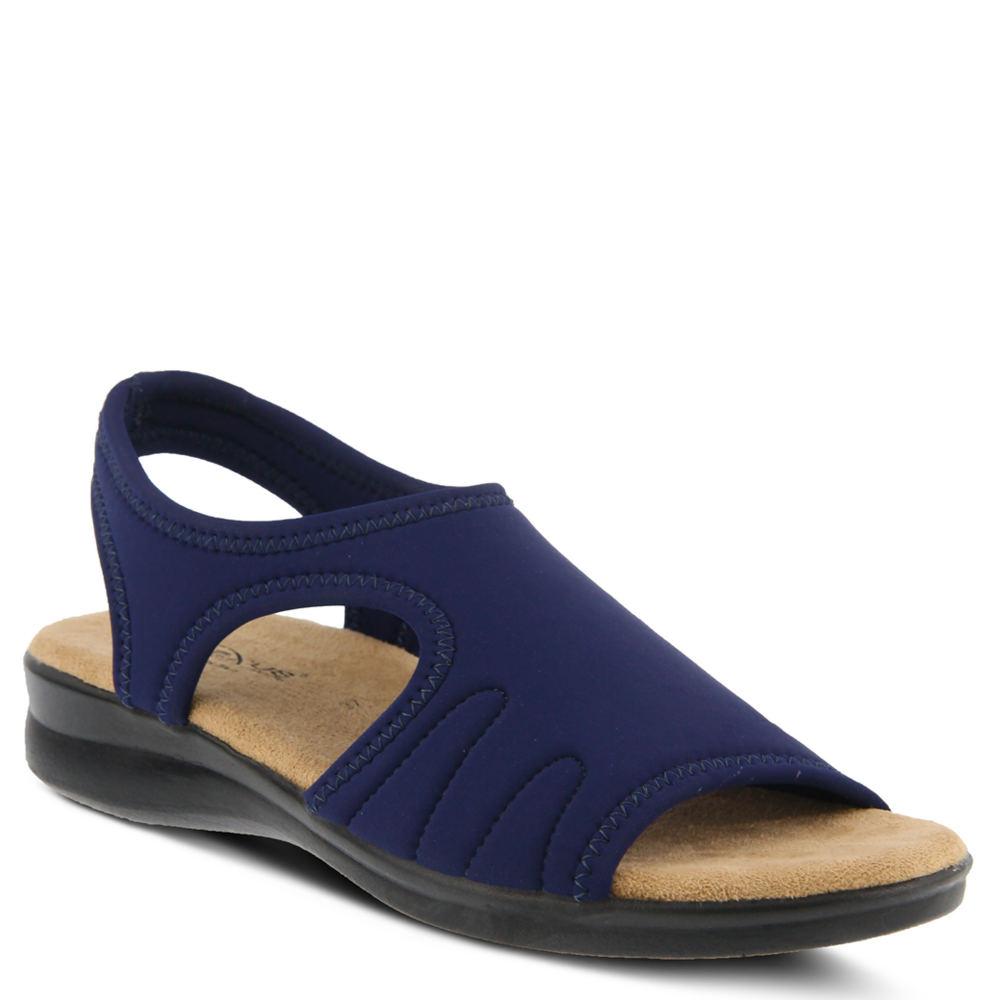 Spring Step Nyaman Women's Navy Sandal Euro 40      US 9 M
