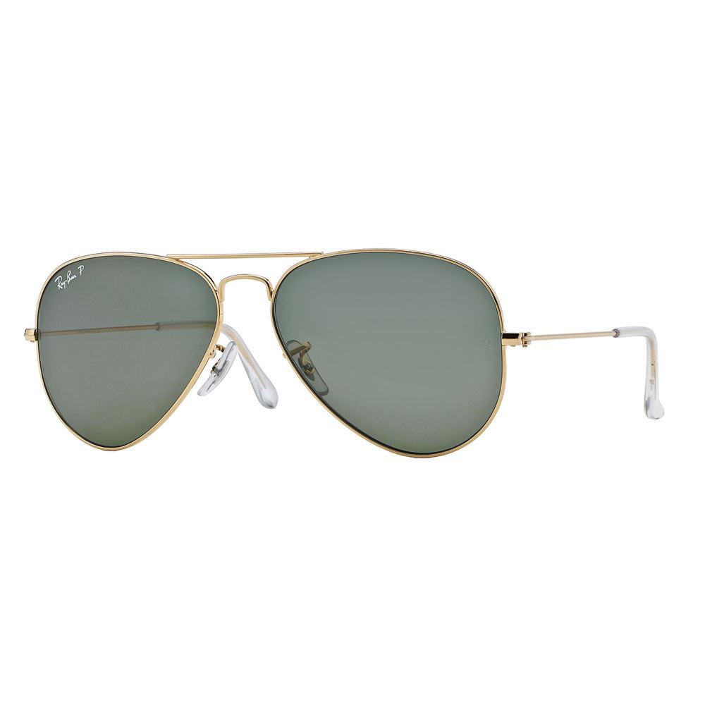 Ray-Ban Polarized Aviator Sunglasses Gold Misc Accessorie...