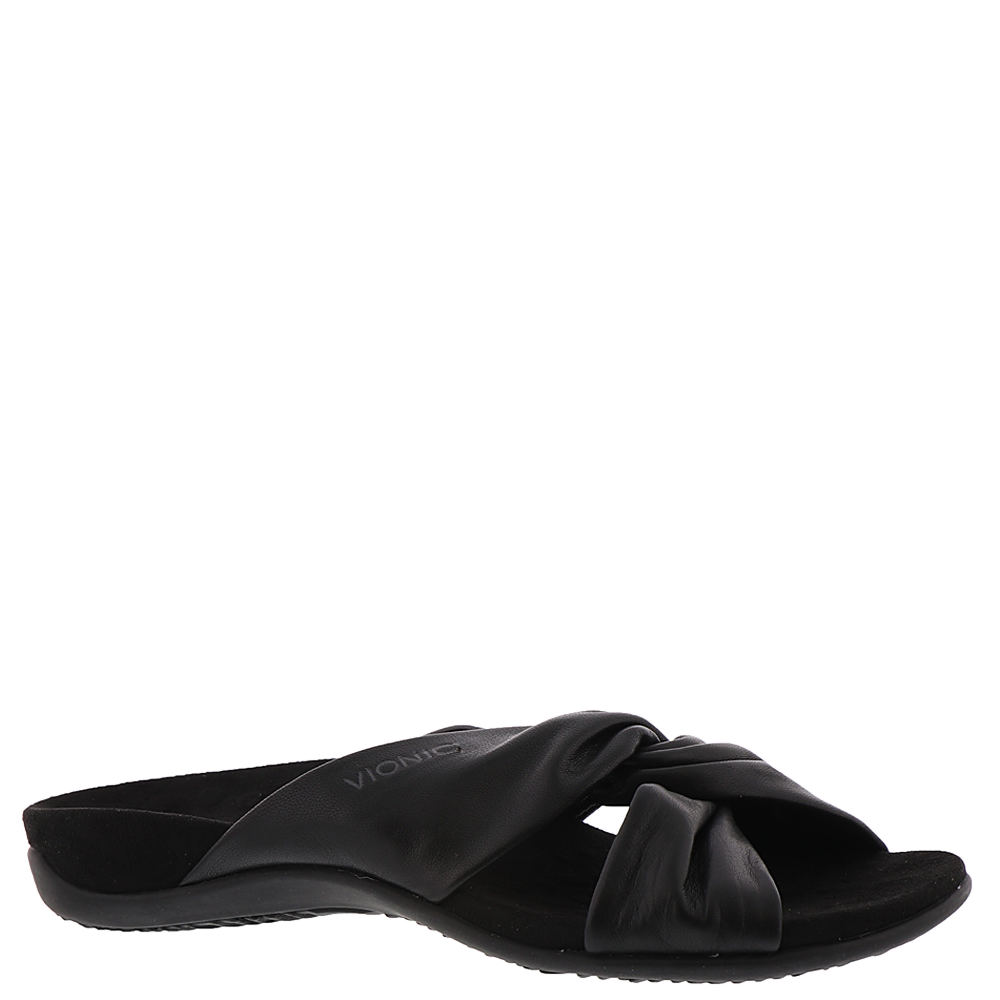 Vionic with Orthaheel Shelley Women's Black Sandal 7 M