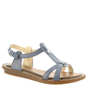 Hush Puppies OLIVE TSTRAP Ladies Women Casual Summer T Strap Leather Sandal Blue