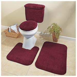 5 Piece Plush Bath Set Color Out Of, 5 Piece Bathroom Rug Set
