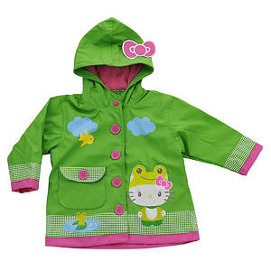Western Chief Girls' Hello Kitty Froggy Raincoat