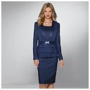 Triple Peplum Jacket Dress