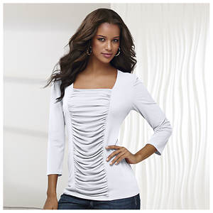 Ruched Tunic Top