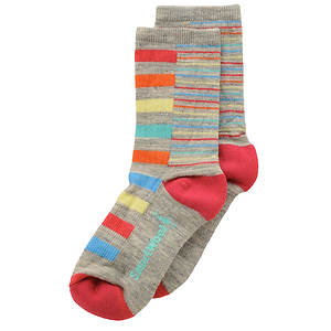 Smartwool Girls' Split Stripe Crew Socks (Toddler-Youth)