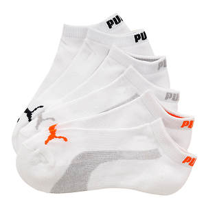 Puma Boys' 6-Pack Low Side Logo Socks (Toddler-Youth)