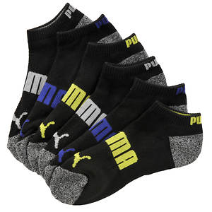 Puma Boys' 6-Pack Logo Low Cut Socks (Toddler-Youth)