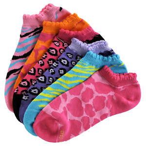 Stride Rite Girls' 6-Pack Jannie No Show Socks (Toddler-Youth)