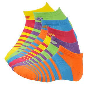 New Balance Women's N037 No Show 6-Pack Socks