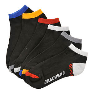 Skechers Boys' 6-Pack Sport Fashion No Show Socks (Toddler-Youth)