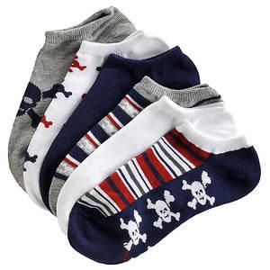 Stride Rite Boys' 6-Pack Malcom No Show Socks (Toddler-Youth)