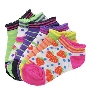 Sof Sole Girls' 6-Pack Fruits No Show Socks