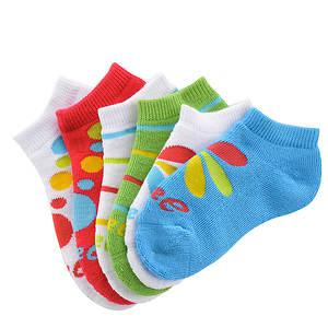 Asics Girls' 6-Pack Lil Runner No Show Socks