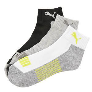 Puma Boys' 3-Pack Logo Quarter Socks (Toddler-Youth)
