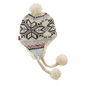 MUK LUKS® Girls' Snowflake Helmet Hat