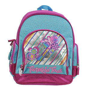 Skechers Girls' Flower Diagonal Multi Pocket Backpack (Toddler-Youth)