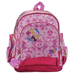 Skechers Girls' Pink Tie-Dye Multi-Pocket Backpack (Toddler-Youth)
