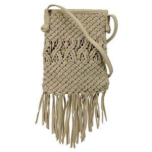 Lucky Brand Daisy Macrame Fringe Crossbody Bag