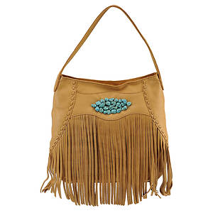 Lucky Brand Indio Fringe Hobo Bag