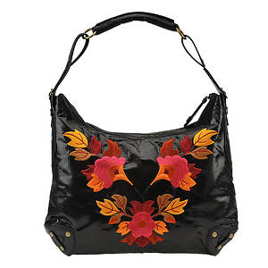 J. Renee Women's Lizard Print Embroidery Handbag