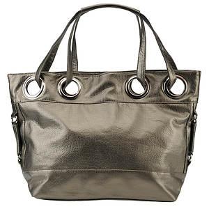 Metallic Bucket Shoulder Bag