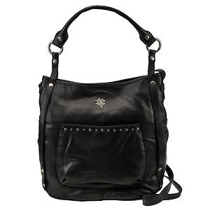 Lucky Brand Sunset Junction Black Leather Convertible Tote