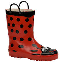 Western Chief Girls' Ladybug Rainboot (Toddler-Youth)