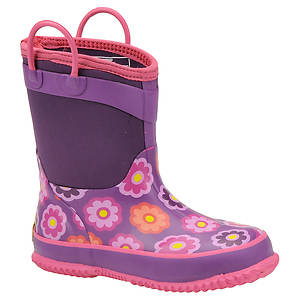 Western Chief Girls' Flower Dot Neoprene Boot (Toddler-Youth)
