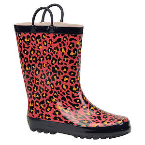 Western Chief Girls' Bright Leopard Rainboot (Toddler-Youth)