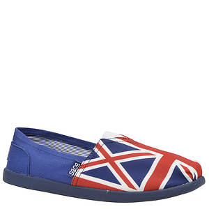 Skechers USA Women's Bobs World - Nation Union Jack Flag Slip-On